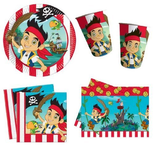 Jake And Neverland Pirates Decorations (Party Bags 2 Go Jake And The Neverlands Pirates Party Pack For)
