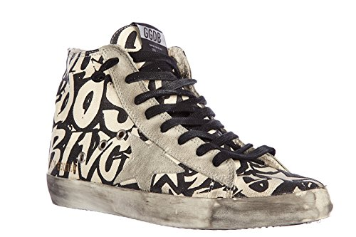Golden Goose chaussures baskets sneakers hautes homme francy vintage grigio