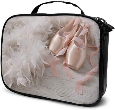 Zapatos de Punta de Ballet en Estuche de Transporte de Maquillaje de Viaje de Madera Bolsa de cosméticos para automóvil Bolsa de cosméticos Grande Bolsa Impresa multifunción para Mujeres: Amazon.es: Equipaje