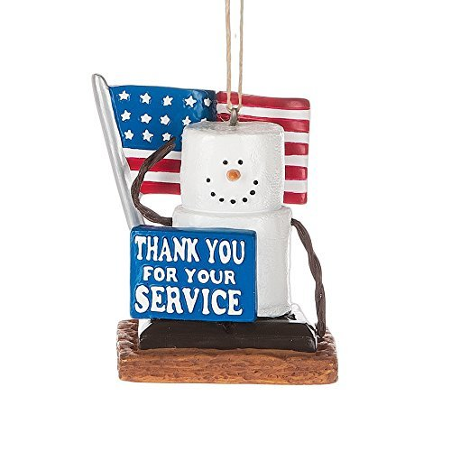 S'Mores Thank You Armed Service Military Christmas/ Everyday Ornament by Midwest-CBK