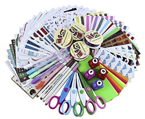 SiCoHome Scrapbooking Supplies Scrapbook Kit Scrapbooking Paper Scrapbooking Stickers DIY Photo Albums Craft Supplies And Diary Decor Scrapbook Accessories(Deluxe Set) (Scrapbooking Lot Scrapbook Paper)