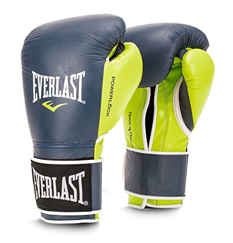 Everlast Powerlock Training Glove 14 oz - Navy/Green P00000731