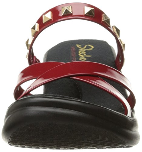 Skechers Cali Frauen Rumbel Studette Wedge Sandale, Rot