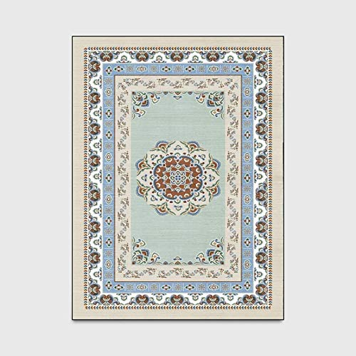 - KFEKDT Persian-Style Carpet Living Room Bedroom Retro Home Decoration Carpet Sofa Coffee Table Study Non-Slip Floor Mat A6 40x60cm