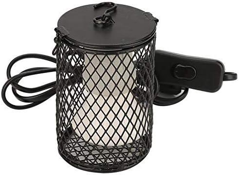 Lámpara de calor de reptil con protector Soporte de lámpara de cerámica