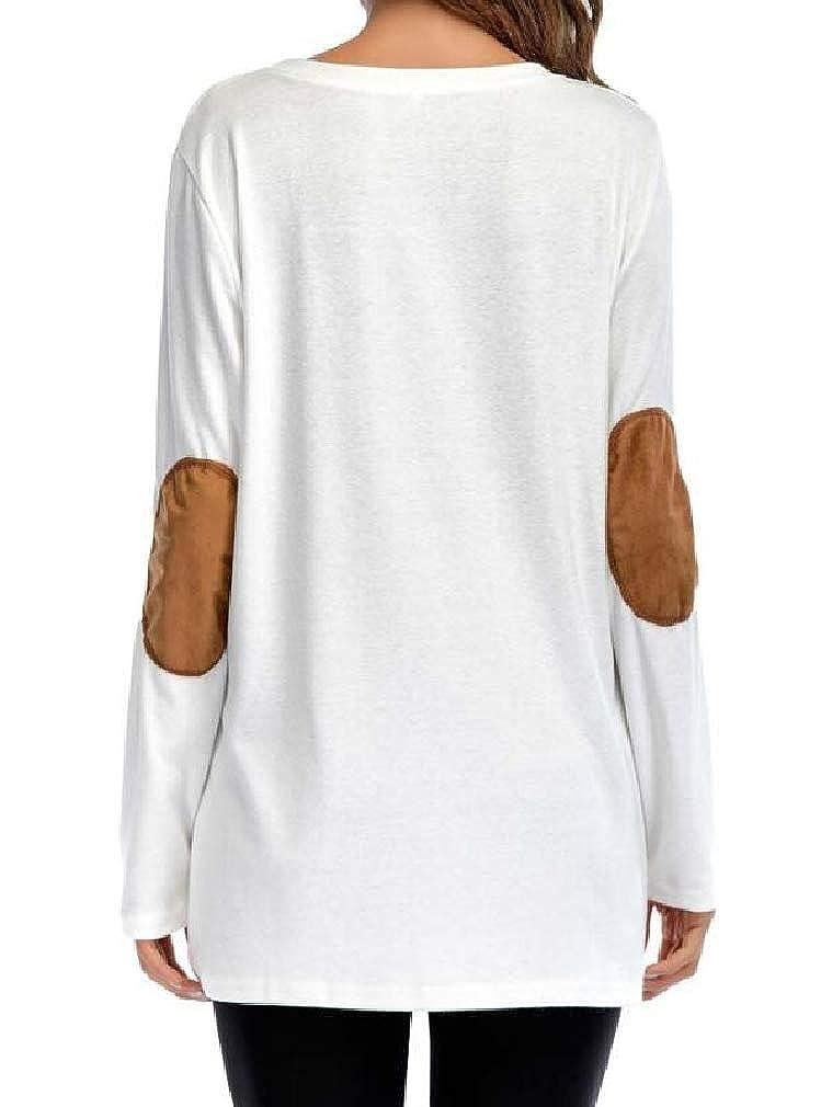 Sweatwater Women Elbow Patch Casual Sport Long Sleeve Button Up Sweatshirt