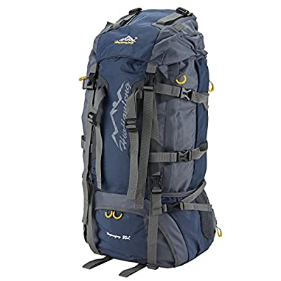 SUNVP 80L Camping Backpack Water-resistant Internal Frame Packs with Rain Cover for Outdoor Hiking Travel Climbing Backpacking Mountaineering