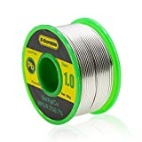 E.Durable Lead Free Solder Wire with Rosin Core for Electrical Soldering and DIY - Sn99 Ag0.3 Cu0.7 100g (1.0MM)