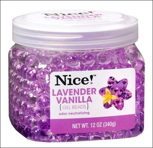Nice! Odor Neutralizing Gel Beads Lavender Vanilla 12.0 oz. (pack of 6)