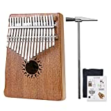 Rahano Thumb Piano 17 Key Kalimba, Finger Percussion Keyboard Music Intrument, Solid Mahogany Wood Body RK-17