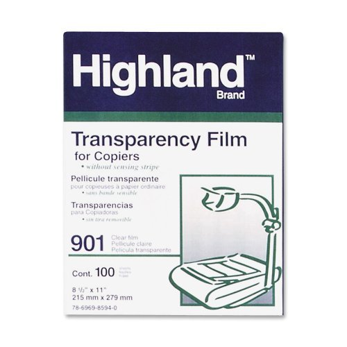 3M Highland 901 8.5 in x 11-inch Transparency Film by (3m Highland Transparency Film)