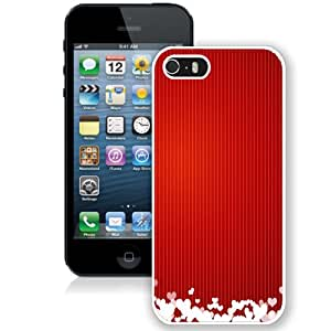 NEW Fashion Custom Designed Cover Case For iPhone 5S Lovely Valentines White Phone Case
