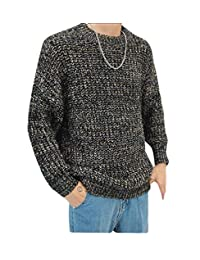 Winme Men Relaxed-Fit Casual Knit Pullover Crew-Neck School Sweater