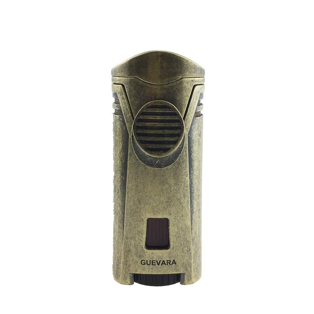 Guevara Cigar Gift Set Gift Box Ashtray(1) + Cutter(1) + Lighter(1) (Gold) by Guevara (Image #4)