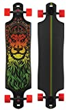 Santa Cruz Lion God Rasta Drop Thru Cruzer Freeride Longboard Deck Complete 40'