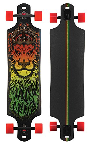 - Santa Cruz Lion God Rasta Drop Thru Cruzer Freeride Longboard Deck Complete 40