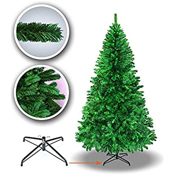 6117c0b7b2a2 New 5  6  7  7.5  Classic Pine Christmas Tree Artificial Realistic Natural  Branches-Unlit with Metal Stand (6