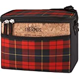 Thermos C45006004 Heritage 6 Can Cooler, Red Plaid