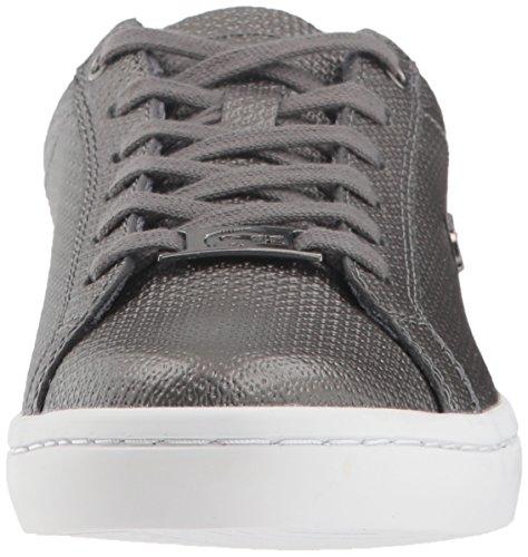 Lacoste Leather Women Black White Sneaker Straightset xOPw0