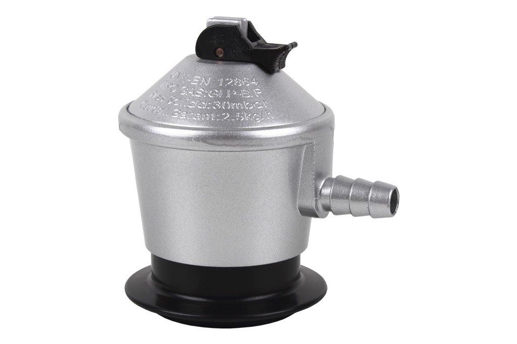 9 cm Acero Cofan Regulador Gas Butano Gris