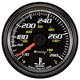 Equus 6242 2'' Mechanical Water Temperature Gauge, Black
