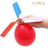 FUNCOCO 12 PCS Kids Toy Balloon Helicopter Children's Day Gift Party Favor Easter Basket, Stocking Stuffer or Birthday!