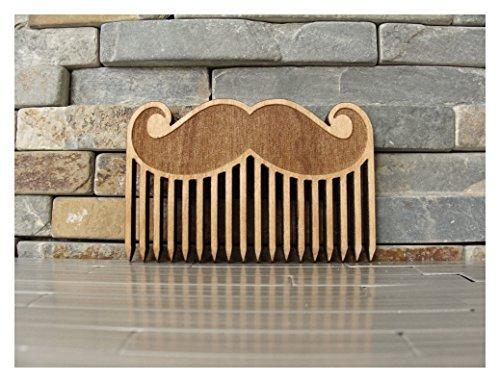 Big Mustache Wood Beard Comb by L.I.M. Lazer