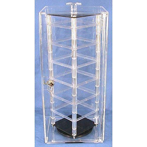 (48 Card Revolving Earrings Display Rotating Case Stand )