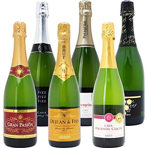 本格シャンパン製法の極上の泡6本セット((W0GX75SE))(750mlx6本ワインセット)