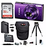 Canon PowerShot ELPH 360 HS Digital Camera w/ 32GB SD Card & Accessory Bundle