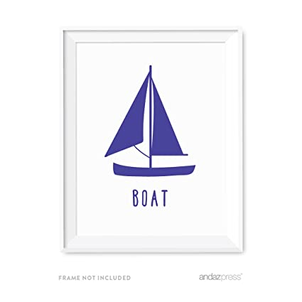 andaz press nursery kids room wall art poster transportation collection sailboat boat 1