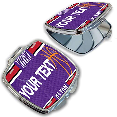 BRGiftShop Customize Your Own Basketball Team Toronto Compact Pocket Cosmetic Mirror ()