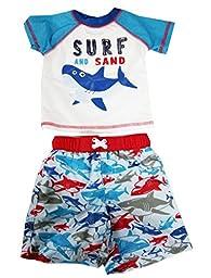 Infant Baby Boys Rash Guard Set Swim Trunk Set Swimwears