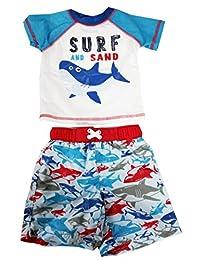 Baby Boys Rash Guard Set Swim Shirt Trunk Swimsuits Swimwear