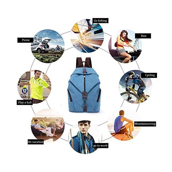 EVEOUT Zaino per Studenti Universitari in Tela Casual Unisex, Zaino da Lavoro per Donne e Uomini per Viaggi Scolastici, Escursionismo in Campeggio