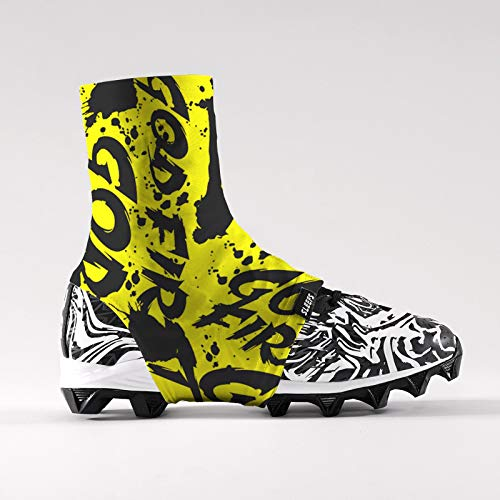 God First Yellow Spats/Cleat Covers]()