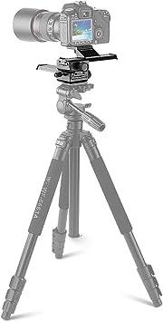 Deslizador de ajuste de aleaci/ón de aluminio riel de enfoque macro de 4 v/ías con tornillo de montaje universal de 1//4 de pulgada para Canon Nikon Pentax Olympus Sony Samsung y otras c/ámaras SLR digit