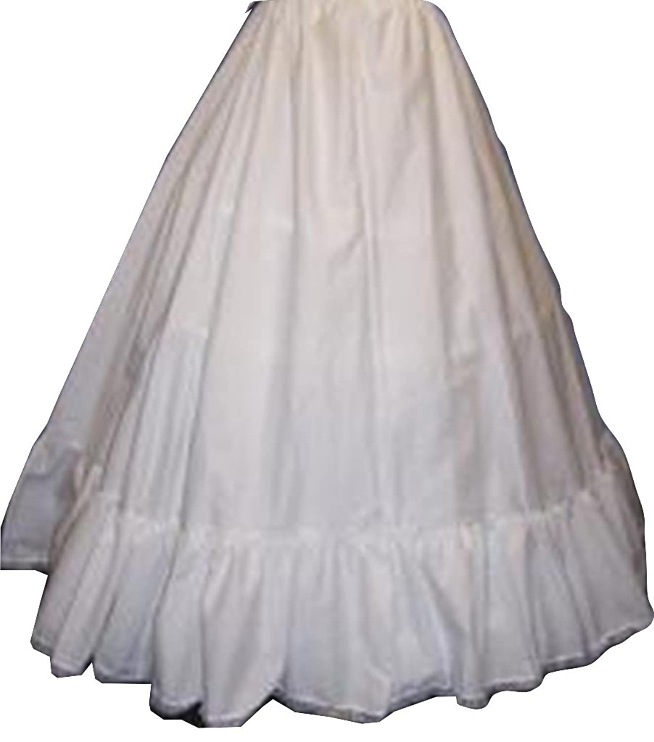 Victorian Wedding Dresses, Shoes, Accessories XL- Hoop Slip Skirt Cotton Cover Over Skirt Civil War Wear (102DSC-C) $40.00 AT vintagedancer.com