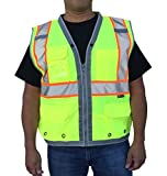 3C Products Men's Safety Surveyor Vest 4XL Neon Green
