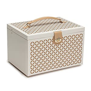 WOLF 301553 Chloe Large Jewelry Box, Cream