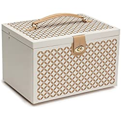 WOLF 301553 Chloe Jewelry Box, Large, Cream