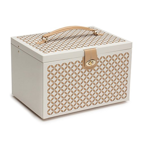 WOLF 301553 Chloé Large Jewelry Box, Cream