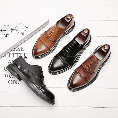 Zapatos Hombres Para Cómodos E Hombres Brown Inglaterra Moda Otoño Transpirables Puntiagudos Invierno wx0qFIHxB