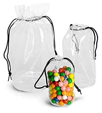 Amazon.com: 152 x 76 mm. bolsas de vinilo transparente w ...