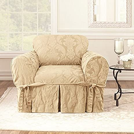 Com Sure Fit Matelasse Damask Chair Cover Sofa Slipcovers