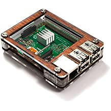 C4 Labs Zebra Wood Case - Raspberry Pi 3, Pi 2, Pi B+ and 2B Heat sinks Included~