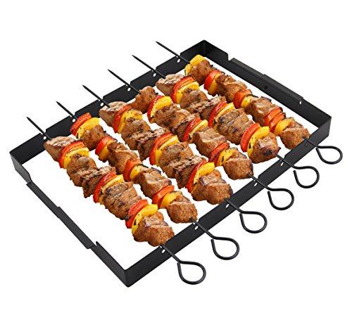 "Buy Bargain POLIGO Heavy Duty Barbecue Skewer Shish Kabob Set, 14"" Stainless Steel Shish Kabob Ske..."