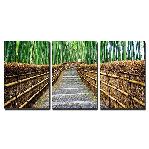 Bamboo Forest in Kyoto Japan Wall Decor x3 Panels