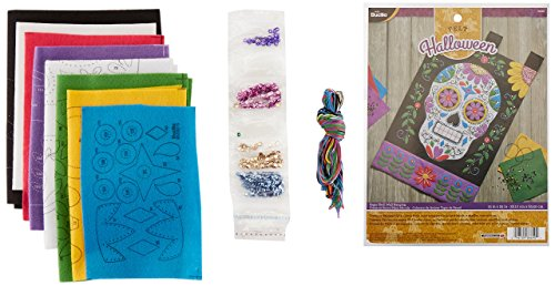 Bucilla Felt Applique Wall Hanging Kit, Sugar Skull, 86690 Size 15-Inch by 25-Inch by Bucilla