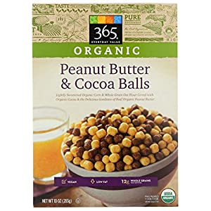 365 by Whole Foods Market, Organic Cereal, Peanut Butter & Cocoa Balls, 10 Ounce